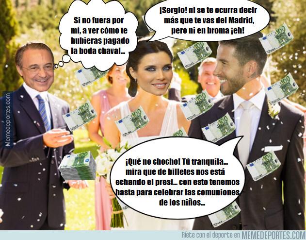1076660 - Florentino Pérez será el mejor invitado de la boda de Sergio Ramos por la cuenta que le trae al jugador...