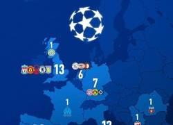 Enlace a Así queda el reparto de Copas de Europa por países, por @goalenespanol