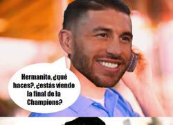 Enlace a A Ramos se le ocurrió una idea viendo anoche la final de la Champions...