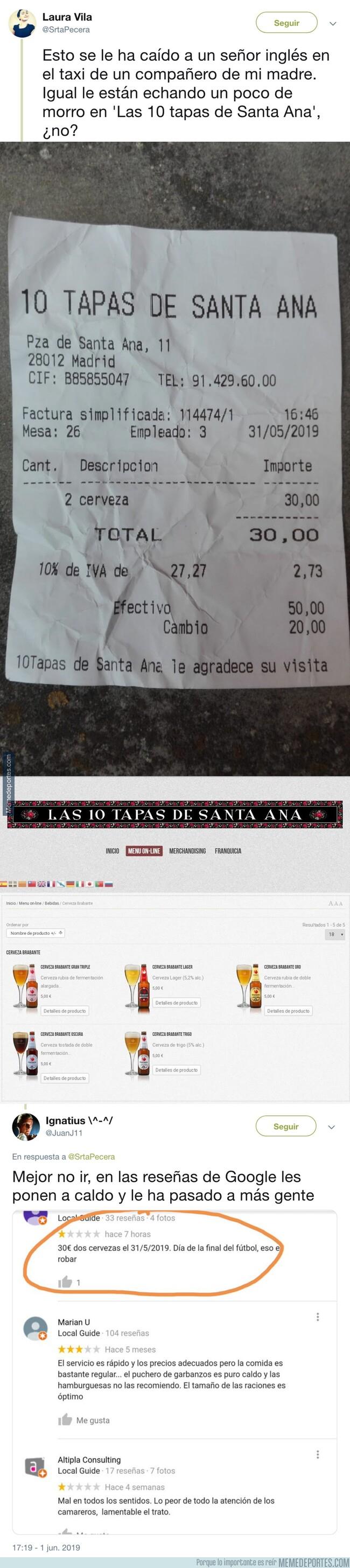 1076988 - El supuesto 'sablazo' a unos aficionados ingleses en Madrid que se ha hecho viral por 2 cervezas