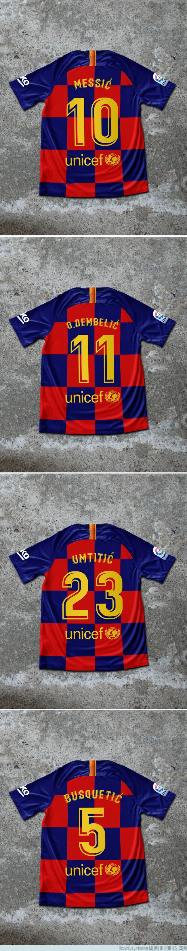 1077083 - Se actualizan los dorsales de la nueva camiseta de cuadros del Barça, por @Barzaboy