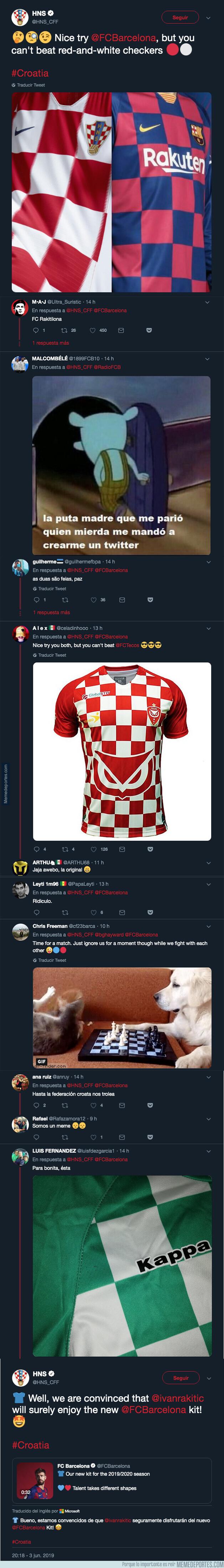 1077087 - La selección de Croacia vacila épicamente al Barça por la nueva camiseta que es igual a la suya