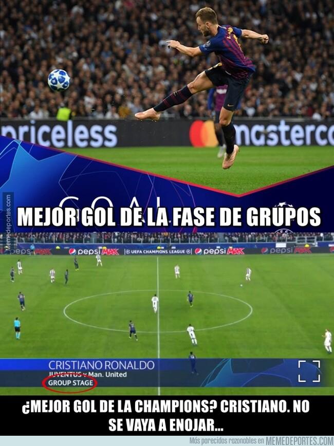 1077100 - La UEFA le regala el mejor gol de la Champions a Cristiano contradiciéndose a ellos mismos