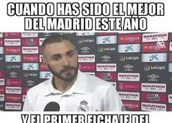 Enlace a Benzema al ver que llega competencia