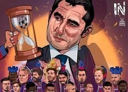 Enlace a El ajedrez de Valverde, por @hamidsaharicartooon