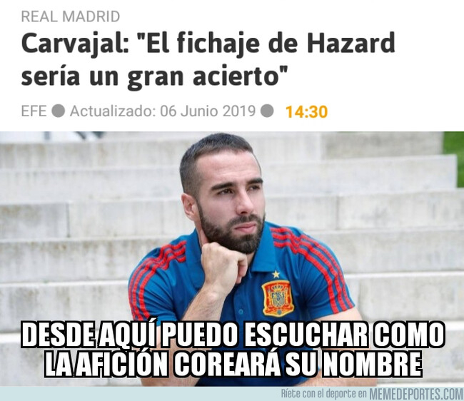 1077352 - El oído de Carvajal augura un gran futuro para Hazard