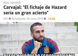Enlace a El oído de Carvajal augura un gran futuro para Hazard