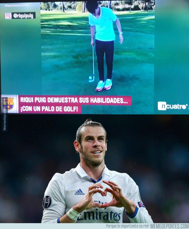 1077643 - La fusión entre golf y fútbol de Riqui Puig es del agrado de Bale