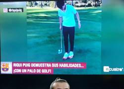Enlace a La fusión entre golf y fútbol de Riqui Puig es del agrado de Bale