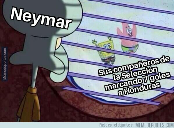 1077650 - Neymar tuvo que ver desde lejos el jolgorio brasileño