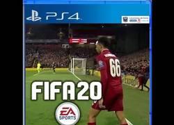 Enlace a Una posible portada para el próximo FIFA. Vía Lecciones de Coco