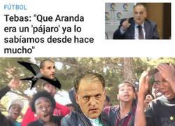 Enlace a Javier Tebas le lanza un dardo a Carlos Aranda