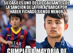 Enlace a Takefusa Kubo, todo un fracaso para el Barça