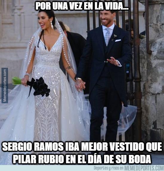 1078232 - Al final Ramos ha ido mejor vestido en su boda que la propia novia... quién lo iba a decir...