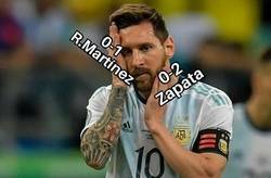 Enlace a Colombia desencajó el rostro de Messi