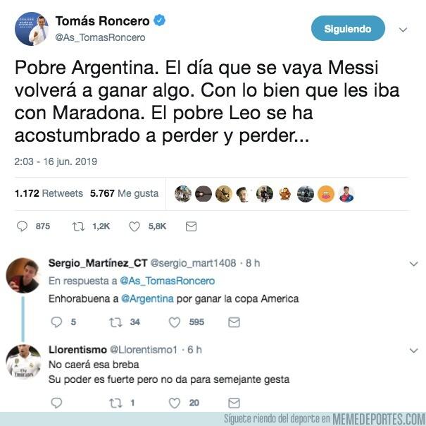 1078305 - Argentina campeona de la Copa América gracias a Roncero