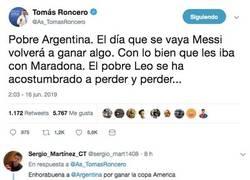 Enlace a Argentina campeona de la Copa América gracias a Roncero