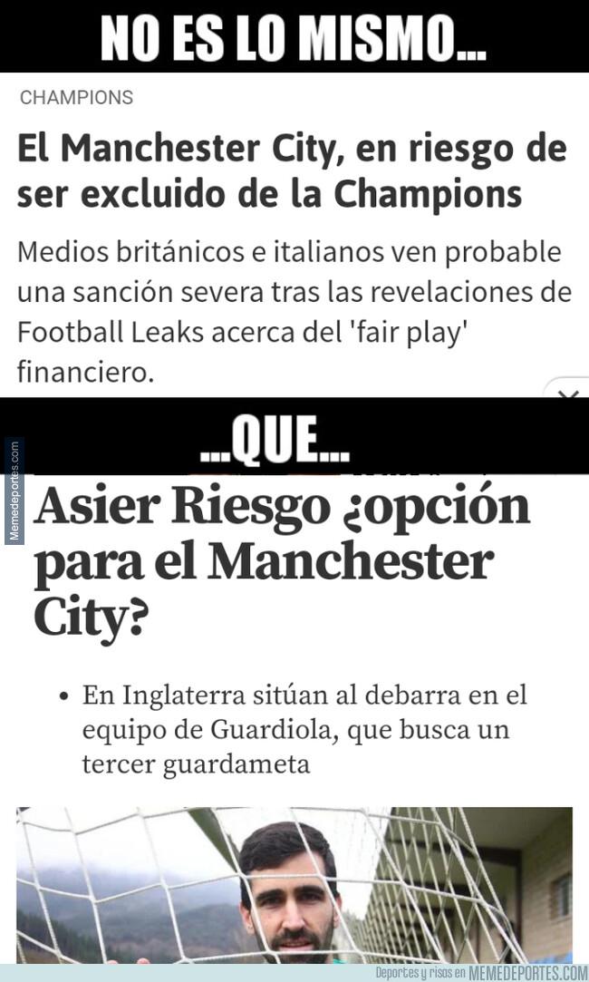 1078474 - Existen riesgos y Riesgos para el Manchester City