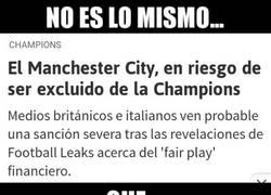Enlace a Existen riesgos y Riesgos para el Manchester City