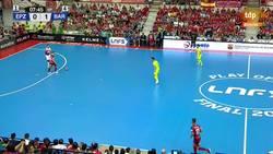 Enlace a Tremendo: El Pozo Murcia le metió al Barça el mismo gol que el Liverpool en Champions