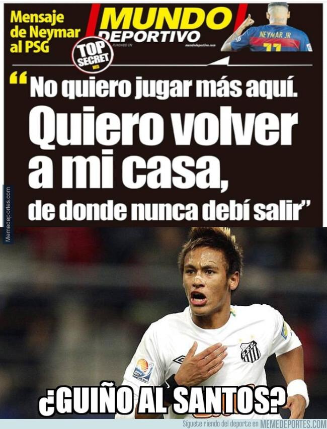 1078603 - Neymar quiere volver a casa, ¿pero a qué casa?