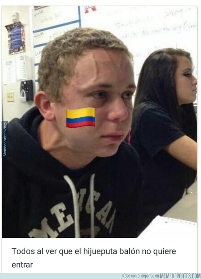1078727 - Los colombianos durante el partido de anoche