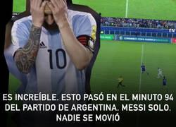 Enlace a Esto pasó en el minuto 94. Messi SOLO. NADIE se movió
