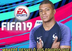 Enlace a Mbappé desveló los equipos que elige en el FIFA y por qué nunca coge al PSG