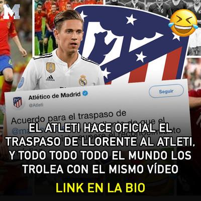 1078768 - Hacen oficial el traspaso de Marcos Llorente al Atleti, y TODO TODO TODO el mundo contestan con el mismo vídeo