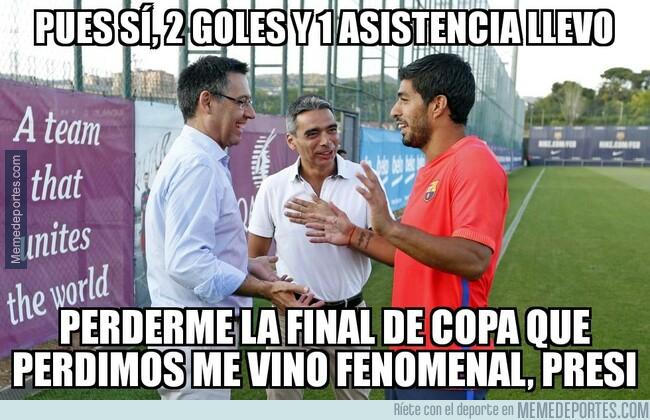 1078858 - El ninguneo de Suárez a la Copa del Rey le ha sentado muy bien