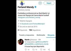Enlace a La pequeña anécdota twittera que le pasó a Mendy por no saber español