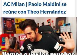 Enlace a Cazan a Theo Hernández y Paolo Maldini en plena negociación