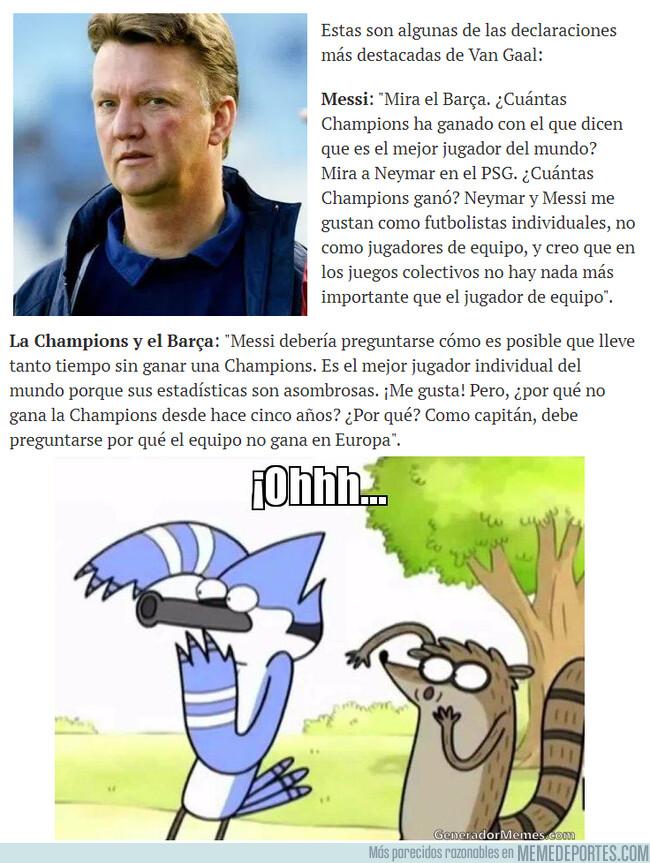 1079118 - Van Gaal no cree que Messi sea el mejor