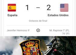 Enlace a España cae del mundial, pero con todos los honores