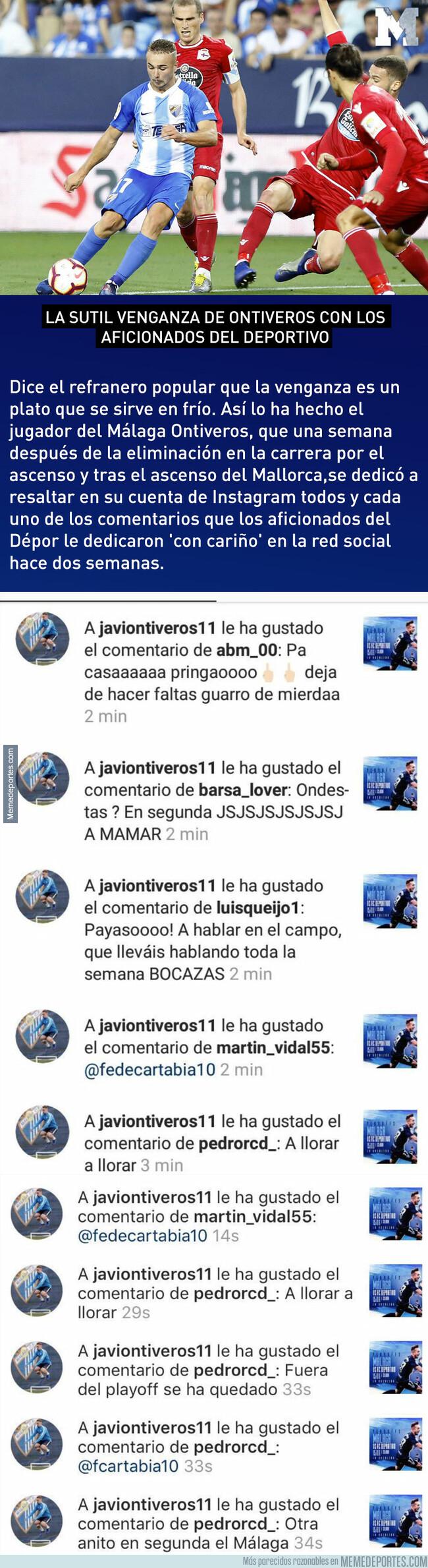 1079231 - La sutil venganza de Ontiveros con los aficionados del Deportivo