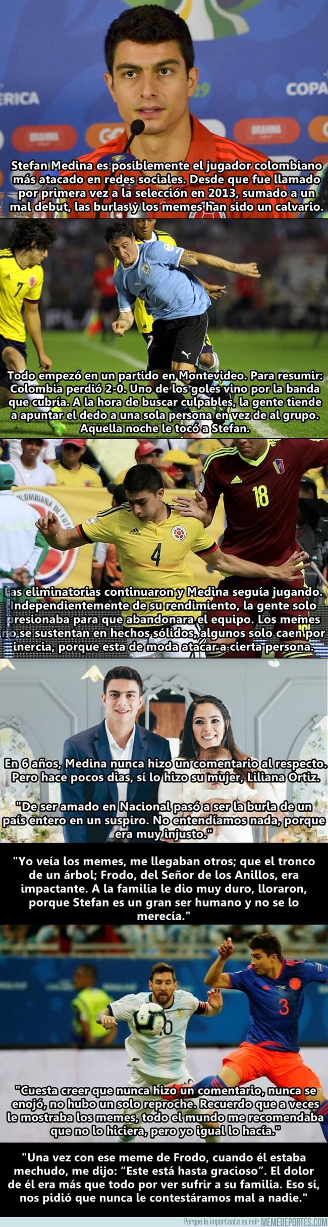 1079235 - La esposa del jugador más atacado en Colombia ha dado la cara por él tras 6 años de bullying
