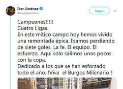 Enlace a Ojo que Iker Jimenez gana la liga con el Burgos milenario