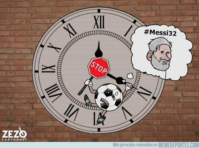 1079289 - Ojalá parar el tiempo y disfrutar siempre del buen fútbol, por @zezocartoons