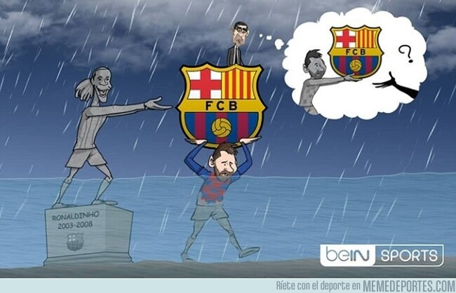 1079292 - ¿Quién tirará del carro azulgrana cuando Messi no esté? Por @footytoonz