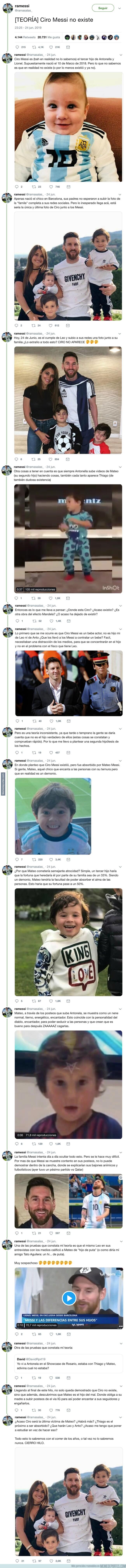 1079308 - La loca teoría que circula por Internet de que Ciro, el hijo de Messi, no existe