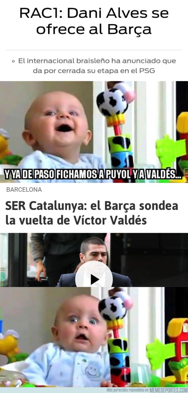 1079421 - Aunque Valdés sea para entrenar en la cantera, el viejo Barça está de vuelta
