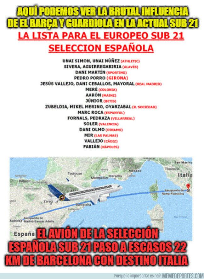 1079458 - Brutal la incidencia de Guardiola y el Barça en la actual Sub 21 española.