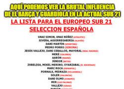 Enlace a Brutal la incidencia de Guardiola y el Barça en la actual Sub 21 española.