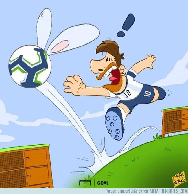 1079621 - Según Messi, el balón parecía un conejo, por @goalglobal