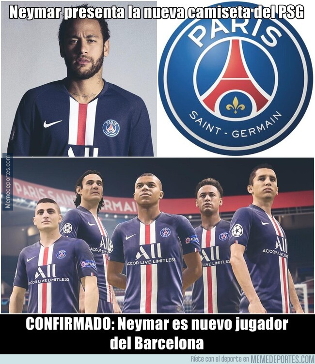 1079867 - La nueva camiseta del PSG ya esta aquí y Neymar la lleva puesta.