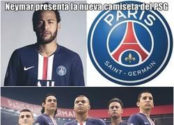 Enlace a La nueva camiseta del PSG ya esta aquí y Neymar la lleva puesta.