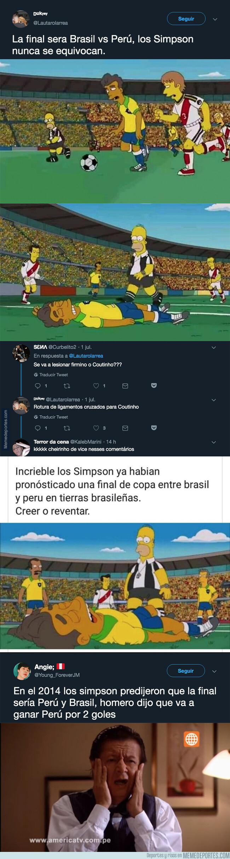 1080152 - Los Simpson lo han vuelto a hacer y han acertado cuál será la final de la Copa América en este capítulo y hasta el resultado que habrá
