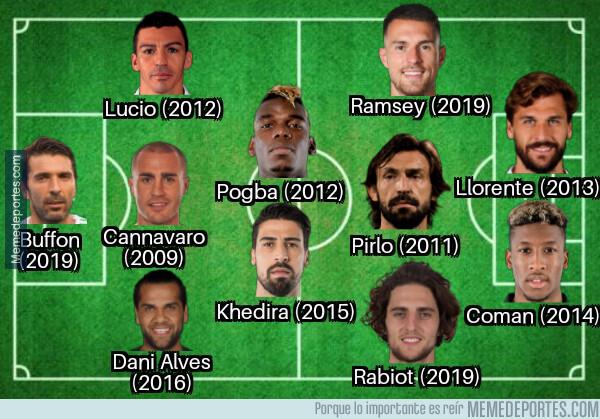 1080194 - El 11 de jugadores que le salieron gratis a la Juventus