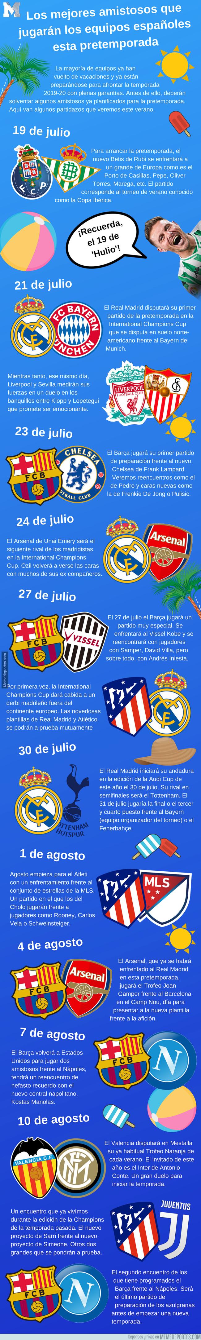 1080271 - Los mejores amistosos que jugarán los equipos españoles esta pretemporada