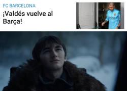 Enlace a Valdés tendrá un hueco en las categorías inferiores del Barça